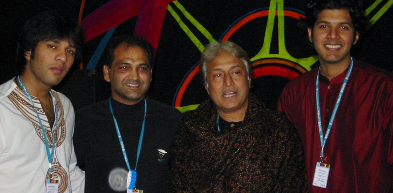 Asad Qizilbash With Ustad Amjad Ali Khan And His Sons At Womad Festival