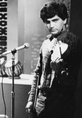 Asad Qizilbash Television Islamabad Playing Violin 1978