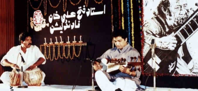 Asad Qizilbash Performing In national Library islamabad